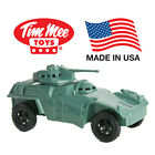 TimMee Processed Plastic MODERN ARMORED CAR: Tim Mee Army Men Scout Vehicle