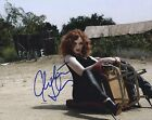 CHRISTINA HENDRICKS SEXY AND SULTRY IN TIGHT BLACK LEATHER SIGNED PHOTO