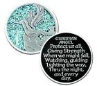 Sparkle Guardian Angel 2 Sided Pocket Coin with Poem Silver Color MM28034