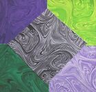 40 Quilter 5 inch Quilting Squares Purple Green Marbleicious Quilt Cotton Fabric