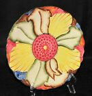 Vintage 1940 Art Deco H J Wood Burslem England Pottery Flower Plate