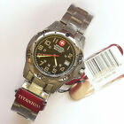 NEW $350 GENTS 40MM WENGER 72617 SWISS MILITARY MOUNTAINEER WATCH ALL TITANIUM