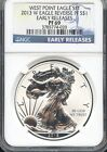 2013 W Silver Eagle From West Point Set Reverse PF E.R. NGC PF69 U.C.