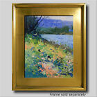 JOSE TRUJILLO PLEIN AIR CALIFORNIA IMPRESSIONIST OIL PAINTING RIVER SIGNED COA