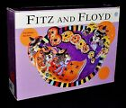 Fitz & Floyd Halloween Kitty Witches Large Boo Bowl NIB