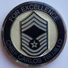 US Air Force Chief Master Sergeant Carlos Trujillo's CMSgt USAF Challenge Coin