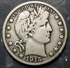 1915S Barber Half Dollar 50 Cents. Nice Coin Only 1,604,000 minted (2348)