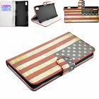 US Flag Style Stand Leather Phone Cover Wallet Pouch Case For Sony Xperia Z2 New