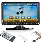Double 2 Din Touch Screen Car Stereo DVD Player Radio BT+FREE Rear View Camera
