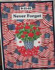 Northcott State Flowers Never Forget 9 11 Roses American Flags Panel