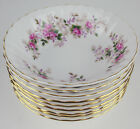 9 x DESSERT BOWLS / FRUIT NAPPIES Royal Albert LAVENDER ROSE 1961 England