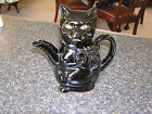 Vintage Shafford Redware Black CAt Teapot 8