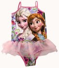 Disney Frozen Princess Elsa & Anna Girls Pink Bathing Swimsuit Beach Swim Wear