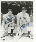 Autographed 8x10 RALPH KINER & JOHNNY MIZE Pirates and Giants photo - PSA