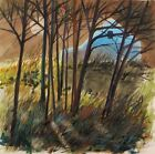 ORIGINAL Moon Barn LANDSCAPE Large  Painting JMW art John Williams Watercolor