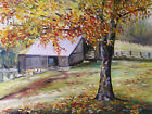 ORIGINAL Farm Landscape Oil Painting John Williams JMW Impressionism Barn
