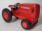 VINTAGE WORKING JAPAN JAPANESE FRICTION RED FARM Agricultural Tractor Tin Toy