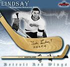TED LINDSAY Signed Northland Wood Model Stick w Insc. - Detroit Red Wings