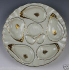 Weimar Gold and Cream Eight Well Oyster Plate - C