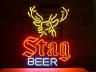 NEW STAG BEER REAL GLASS NEON LIGHT BEER LAGER BAR SIGN