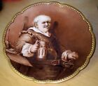 RARE SIGNED D&C FRENCH LIMOGES FALSTAFF CHARACTER PLATE
