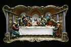 X-Large The Last Supper Jesus Christ Wall Plate Statue 3D Vittoria Made in Italy