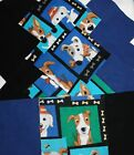 Quilting Soft Snuggle Flannel Squares 48 pk 5 Sq Dog Play Blue Quilt