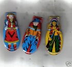 3 1950'S COWBOY WESTERN INDIAN CLICKER TIN TOYS JAPAN