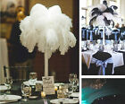 Wholesale 10 100 pcs high quality natural white black ostrich feathers 15 50cm