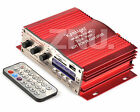 4CH Power HiFi Audio Stereo AMP Amplifier For ipod Car FM + MP3 + REMOTE AUX
