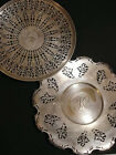 VINTAGE MERIDEN RETICULATED SILVER PLATE PLATES LOT