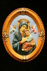 Our Lady of Perpetual Virgin Mary Religous Statue Wall Plate Made in Italy