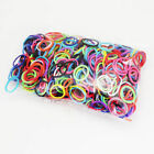 600PCS Mixed Loom Rubber Refills Bracelet Bands With Rainbow Colors + 25 Clips