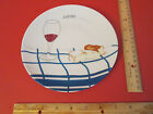 Dinner Plate made in France Porcelaine de  Sologne Cam... wine bread cheese
