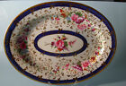 Rare Early Royal Worcester Platter Hand-Painted Flowers