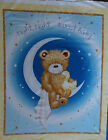 Night Sweet Baby Quilt Fabric Panel Crib Blanket by QT 100% Cotton Bear Moon