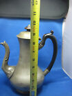 Antique German Pewter Tea Pot W/ Handle18th century very old look at the stamps