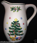NIKKO HOLIDAY TREE PITCHER 58 OZ EMBOSSED CHRISTMAS TREE WITH GIFTS