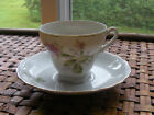 Vintage JAPAN China DEMI Cup and Saucer PINK FLORAL