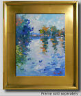 JOSE TRUJILLO PLEIN AIR CALIFORNIA IMPRESSIONISM OIL PAINTING RIVER TREES CLOUDS