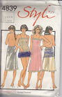 Vintage Style #4839 Slip Camisole Panties Pettipants Panty Pattern 12 14 16
