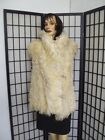 EXCELLENT NATURAL CURLY LAMB SHEEP FUR VEST JACKET COAT WOMEN WOMAN SIZE 6-8