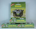 FOLDING EMERGENCY STOVE W/ 6 CANS STERNO TYPE FUEL CAMP HEAT STURDY LIGHT