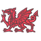 Welsh Dragon Iron On Patch Embroidered Applique 2 1 4 x 1 1 4