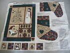 Vtg Cranston Fabric Panel Cut & Sew~HOMESPUN HOLIDAYS~Quilt wall hanging &...