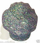 Sequin Newsboy Brando Cabbie Cap Opal PURPLE