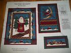 TIS THE SEASON Christmas wallhanging Leslie Beck Cotton Quilt FABRIC PANEL