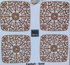 222 Fifth Casbah Gold Appetizer Plates ▬ Set of 4 ▬ New