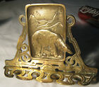 ANTIQUE CJO JUDD CAST IRON POLAR BEAR WALL ART RACK KEY LEASH CHAIN PIPE HOLDER