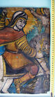 18c RUSSIAN ICON OF ST. GEORGE TWO SIDE FRAGMENT CHURCH OIL PAINTING ON CANVAS